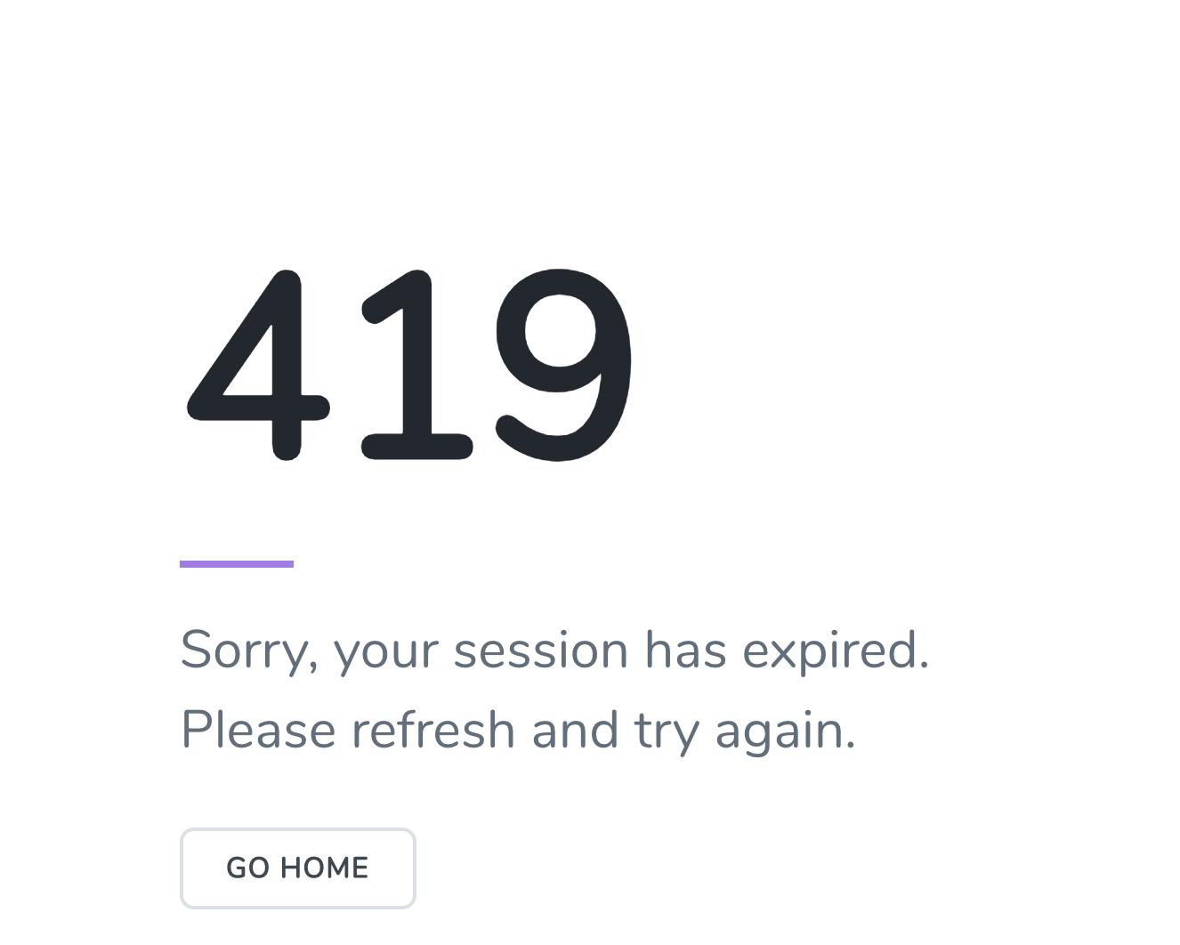 Laravel's default 419 error page